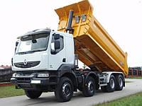 Услуги по перевозке сыпучих и навалочных грузов самосвалами