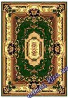 """Синтетический прямоугольный ковер эконом-сегмента Gold Karat """"Античность"""", цвет бежево-зеленый"""