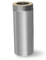 Двустенный сэндвич дымоход L=1м 0,6 мм ф110/180 (утепленные трубы нержавейка в оцинковке)