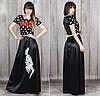 Платье женское в пол, накатка, фото 2