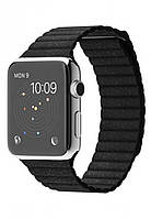 Apple Watch 42mm Stainless Steel Case with Black Leather Loop ( MJYN2 )