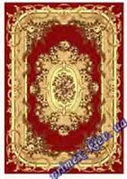 """Синтетический прямоугольный ковер эконом-сегмента Gold Karat """"Цветочная арка"""", цвет бежево-красный"""
