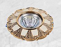 Точечный врезной светильник (47-6804 золото)