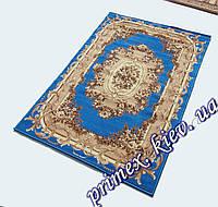 """Синтетический прямоугольный ковер эконом-сегмента Gold Karat """"Цветочная арка"""", цвет голубой"""