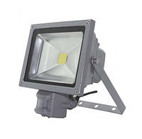 Прожектор светодиодный Ecolux SMBM20 20w 220V IP65 6500K с датчиком движения