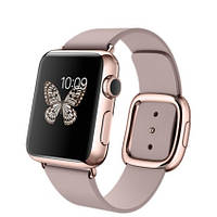 Apple Watch Edition 38mm 18-Karat Rose Gold Case with Rose Gray Modern Buckle (MJ3K2)