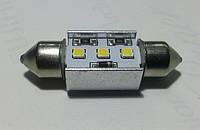 """Светодиодная CANBUS автолампа  FT10 (36-38mm)(150 Lm) с """"обманкой"""" Samsung LED chip SMD2323"""