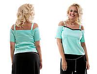 """Элегантная летняя нарядная блуза в больших размерах 027 """"Атлас Кружево"""" в расцветках"""