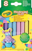 Не засыхающий пластилин, 8 пастельных цветов, Modeling Clay, Crayola
