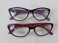 Очки женские в пластмассовой оправе 733