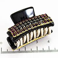 Крабик маленький в стразах (3,5 см, 4 ряда)