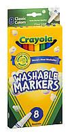 Фломастеры-маркеры Крайола смываемые 8 штCrayola Fine Point Washable Markers