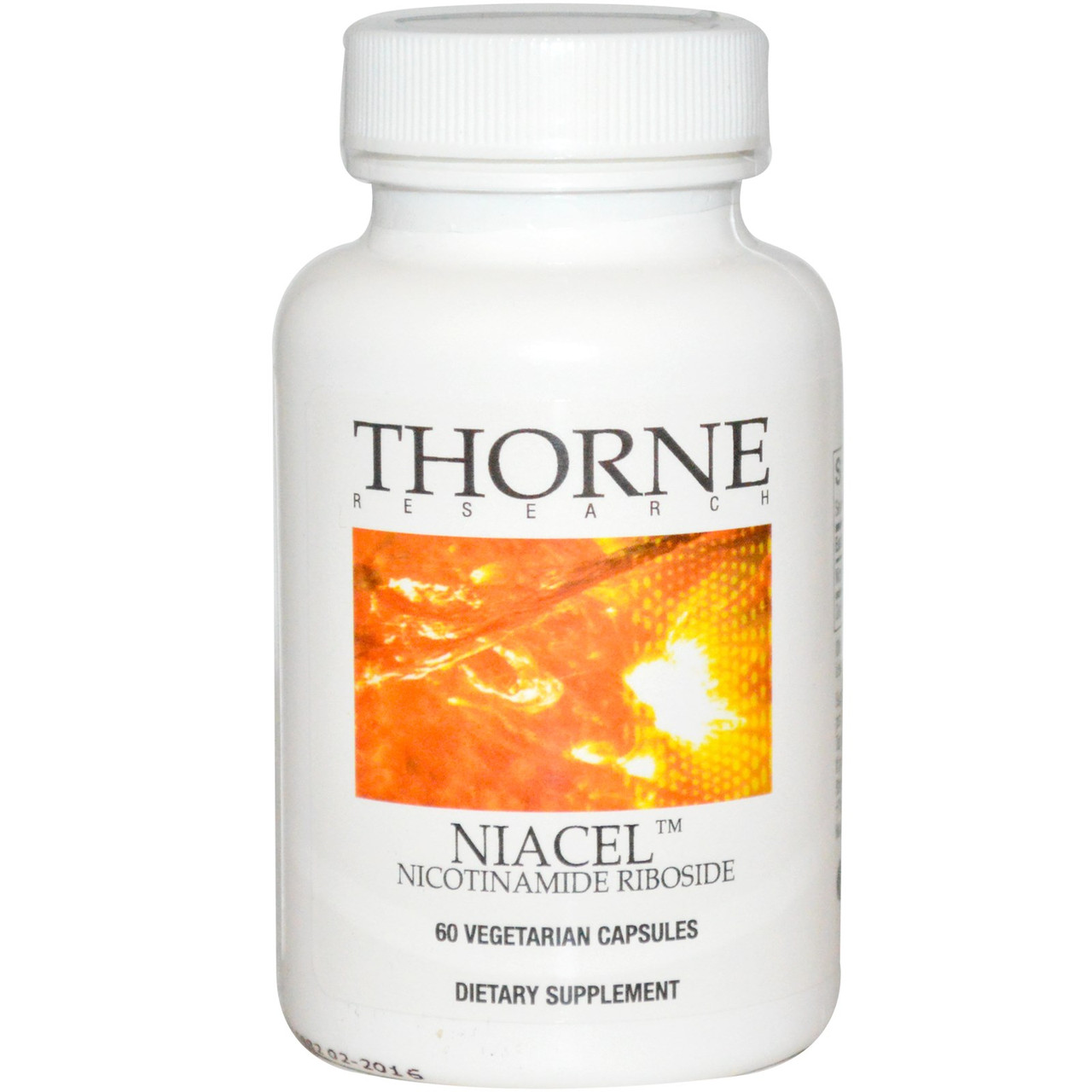 Никотинамид рибозид, Thorne Research, Niacel, 125 мг, 60 капсул. Сделано в США.