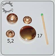 Кнопка нержавейка декоративная 17мм золото