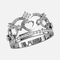 Кольцо  женское серебряное Корона К 1164