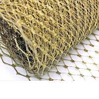 Вуаль шляпная Золото 22x50 cм, фото 1