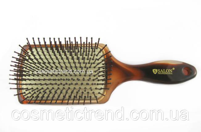 Щітка для волосся велика квадратна пластикова масажна Salon Professional 6997TT, фото 2