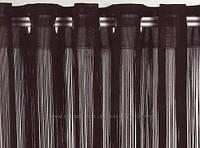 Шторы  нити  однотонные венге №204 декоративные  перегородки