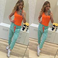 Женские льняные штаны к-60055