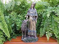Коллекционная статуэтка Veronese Индейская женщина с волком WU76627A4