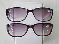 Очки женские в пластмассовой оправе тонированные 2104