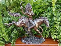 Коллекционная статуэтка Veronese Индейский вождь на лошади 75790A4