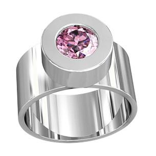 Кольцо  женское серебряное Жасмин  111080