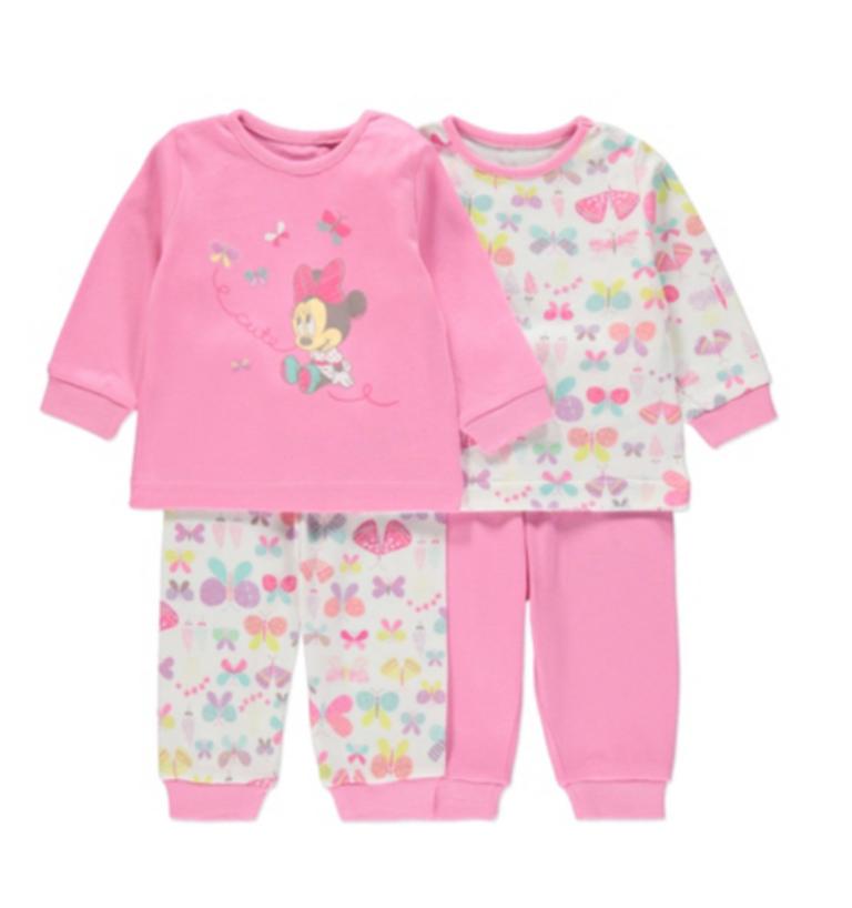Пижамы детские & костюмы домашние на девочку 18-24 мес. Disney Minnie Mouse Pyjama George (Англия)