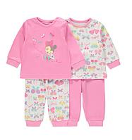 Пижамы детские с длинным рукавом на девочку 18-24 мес. Disney Minnie Mouse Pyjama George (Англия)
