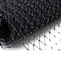 Вуаль шляпная Черная 25x50 cм