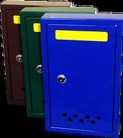 Почтовый ящик Штора с металлическим замком коричневый