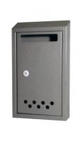 Почтовый ящик с металлическим замком, серый эконом