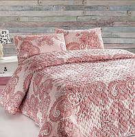 Покрывало с наволочками Eponj Home ONE COLOR PEMBE розовое 200*220