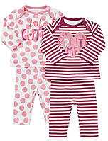 Пижамы детские с длинным рукавом для девочек 1-2-3 года F&F (Tesco, Англия)