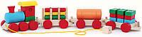 Деревянная игрушка Паровоз и 3 вагона