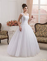 Нежное свадебное платье с пышной юбкой