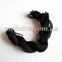 Нейлоновий шнур, 20 м, товщина 1 мм, колір чорний