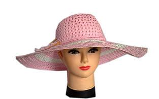 Шляпа соломенная с цветком