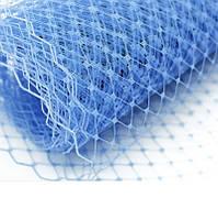 Вуаль шляпная Голубая 23x50 cм