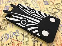 Резиновый 3D чехол для Lenovo K3 Note Зебра