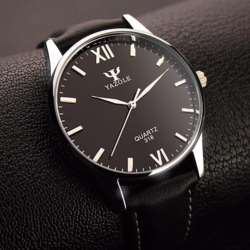 Мужские часы Yazole blue ray черные