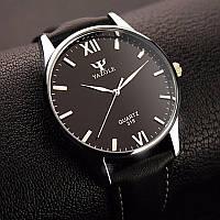 Мужские часы Yazole blue ray черные, фото 1