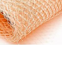 Вуаль шляпная Персиковая 23x50 cм