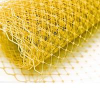 Вуаль шляпная Желтая 23x50 cм