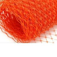 Вуаль шляпная Оранжевая 23x50 cм