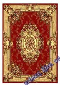 """Синтетический прямоугольный ковер эконом-сегмента Gold Karat """"Сплетение"""", цвет красный"""