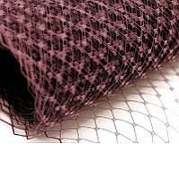 Вуаль шляпная Шоколадная 23x50 cм