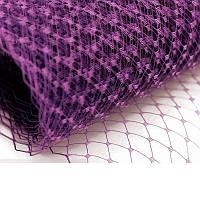 Вуаль шляпная Сливовая 22x50 cм, фото 1