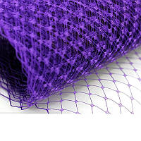 Вуаль шляпная Фиолетовая 23x50 cм