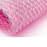 Вуаль шляпная Розовая 23x50 cм